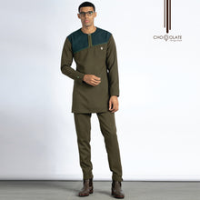 Load image into Gallery viewer, PRE-ORDER Army Green Kaftan