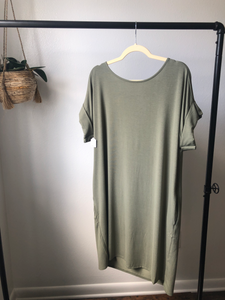 PLUS CASUAL TEE DRESS