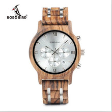 Discerning Wooden Watch with Chronograph and Stopwatch