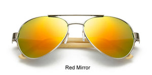 Vintage Pilot Wood Sunglasses for Men and Women