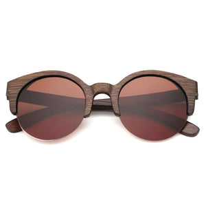 Stunning Wooden Sunglasses with UV Protectant CR39 Lens