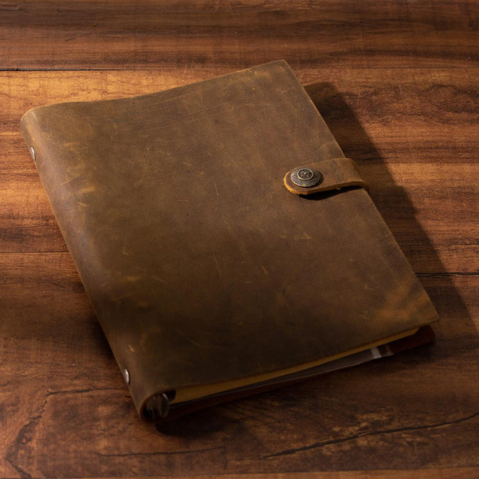 Handmade Traveler's Notebook  Brown Genuine Leather
