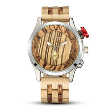 This Wood Watch is On Trend! Stainless Steel Case, Folding Safety Clasp, High Quality Wood Band.