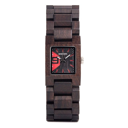 Woman's Wooden Quartz Watch 25mm