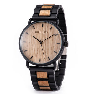 Zebra-Wood Luxury Ultra-thin Quartz Wooden Watch