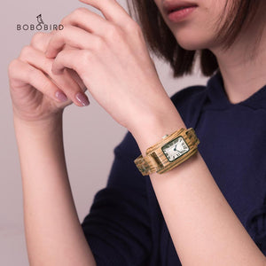 Lovely Woman's Wooden Watch with Flirtatious Colored Face
