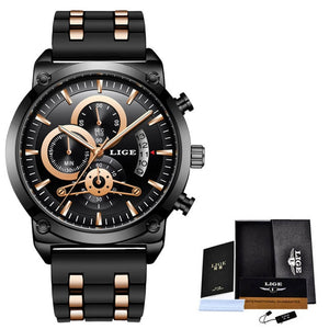 New Classic Black Men's Quartz Watch