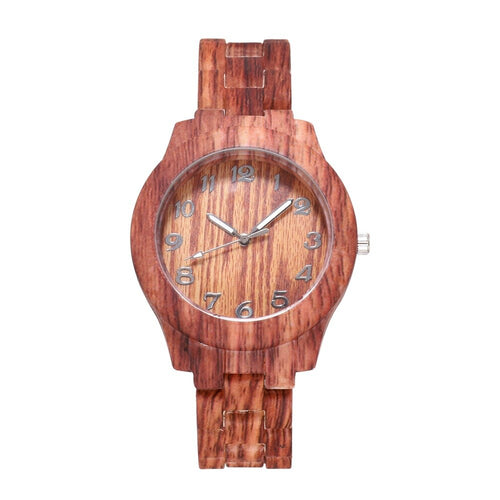 Casual Women's Watch Bamboo, Quartz