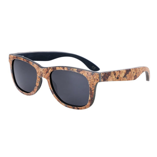Polarized Cork Frame Style Wooden Sunglasses