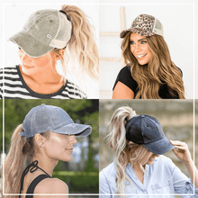 Load image into Gallery viewer, Criss Cross Easy Ponytail Cap