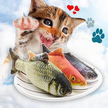 Load image into Gallery viewer, Cat Wagging Fish Realistic Plush