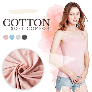 Cotton Camisole With Build-in Bra