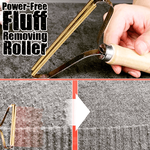 Power-Free Lint Removing Roller