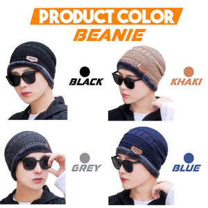 Beanie Warm Hat And Scarf Set 1688 Beanie Black