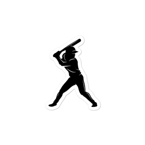 Softball Girl Batter Logo Sticker