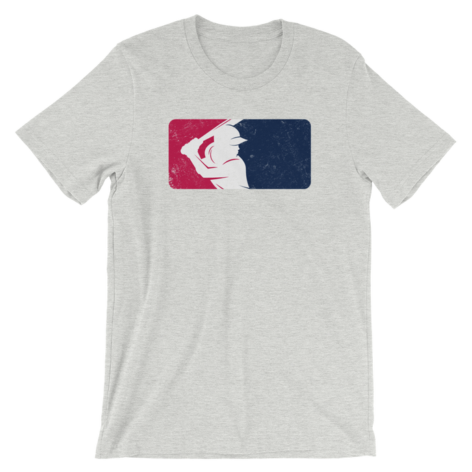 Womens Athletic Heather Vintage Batters Logo T Shirt