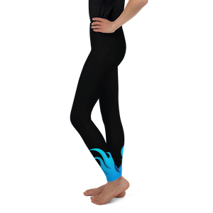 Black and Blue Throwing Heat Softball Pitcher Leggings