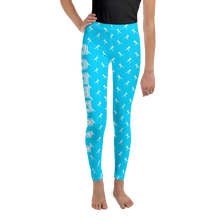 Load image into Gallery viewer, Softball Blues Youth Leggings