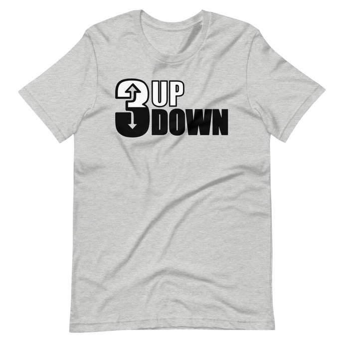 Athletic Heather 3 Up 3 Down Dad Softball T Shirt