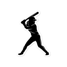Load image into Gallery viewer, Softball Girl Batter Logo Sticker
