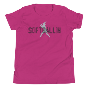 Softballin Original Logo Youth Short Sleeve T-Shirt