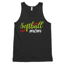 Load image into Gallery viewer, Womens Black Softball Mom Tank Top