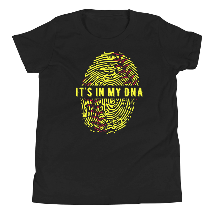 Girls Black It's In My DNA Youth T Shirt