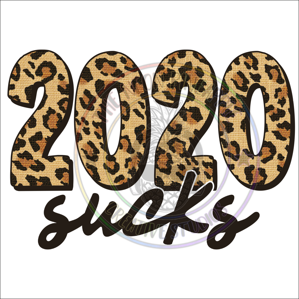 2020 Sucks Leopard Print Waterslide - 24