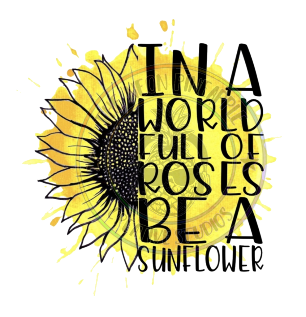 Be A Sunflower Black & Yellow Waterslide - 67