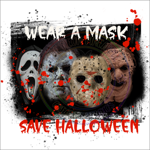 Wear A Mask Save Halloween Waterslide - 408