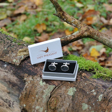 Load image into Gallery viewer, Wool Cufflinks - Charcoal