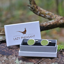 Load image into Gallery viewer, Wool Cufflinks - Green
