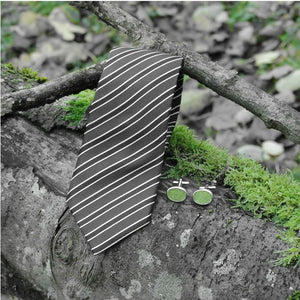 Wool Cufflinks - Green
