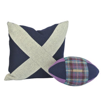 Load image into Gallery viewer, Rugby Ball Cushion - Thistle