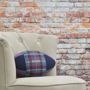 Rugby Ball Cushion - Thistle