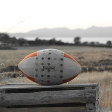 Load image into Gallery viewer, Rugby Ball Cushion - Spot On