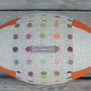 Rugby Ball Cushion - Spot On