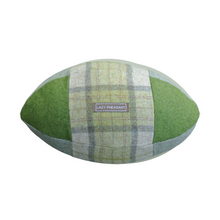 Load image into Gallery viewer, Rugby Ball Cushion - Emerald
