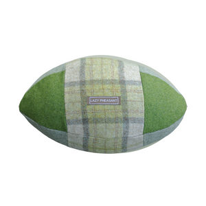 Rugby Ball Cushion - Emerald