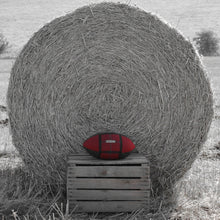 Load image into Gallery viewer, Rugby Ball Cushion - Oak