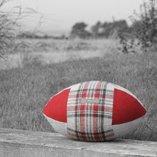 Load image into Gallery viewer, Rugby Ball Cushion - Rose