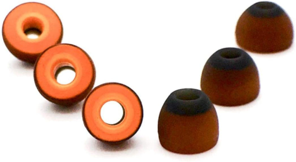 SYMBIO W Premium Memory Foam & Silicone Universal Ear Bud Tips. Advance Hybrid Design, Comfortable fit and Great Sound Isolation,