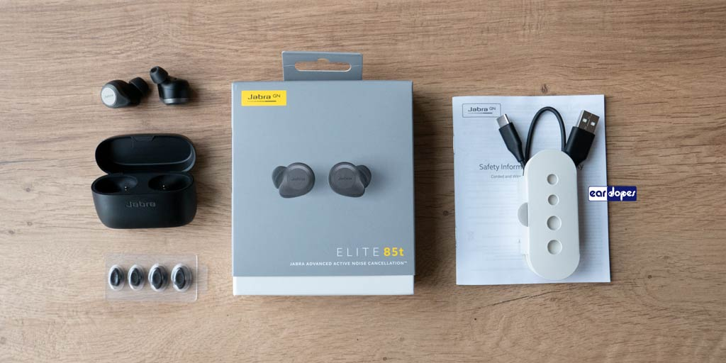 Jabra Elite 85t package box oval ear tips