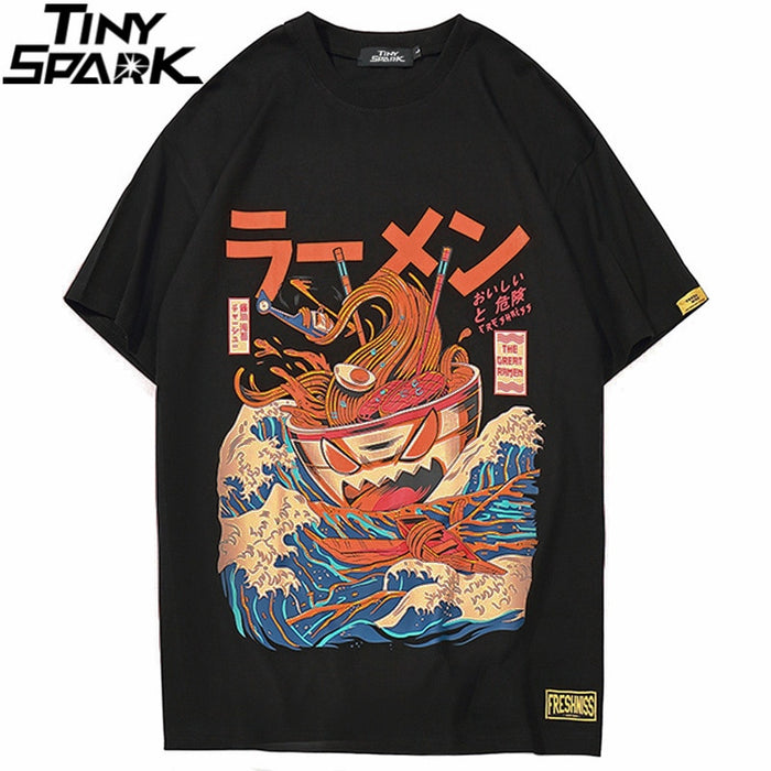 Noodle Ship Cartoon T-shirts