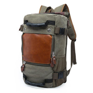Vintage Canvas 40L Travel Backpack Men Women Large Capacity Luggage Shoulder Bags Backpacks Male Waterproof Backpack bag pack