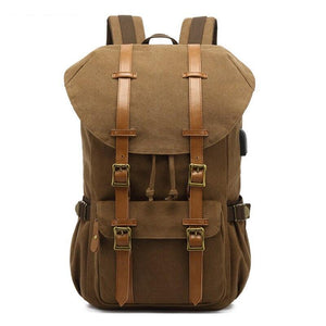 MARKROYAL New Canvas Backpack Vintage Large Capacity Travel Backpack Casual Laptop Students School Bag Coffee Dropshipping