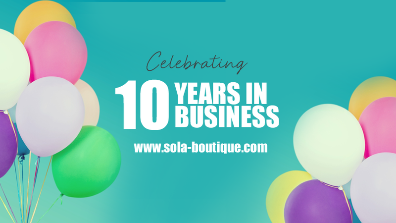 Celebrating 10 years in business - Thank You.