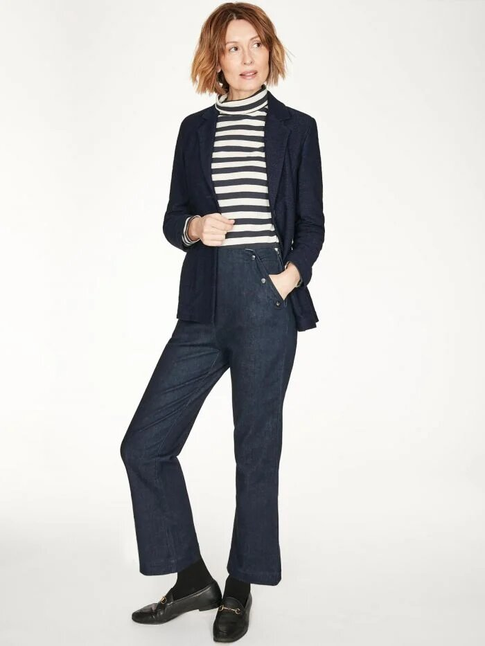 Organic Cotton Denim Sailor Trousers from Thougtht