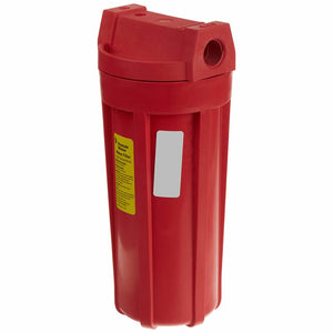 "Pentek - Standard 10"" High Temperature Nylon Filter Housing - Red/Red - 3/4"" NPT - No Pressure Release"