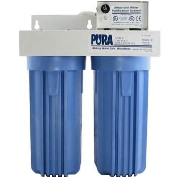 Pura UV - UVB2-EPCB-SD 0.5 Micron Carbon Block-5 Micron Sediment Drinking Filter 2 GPM